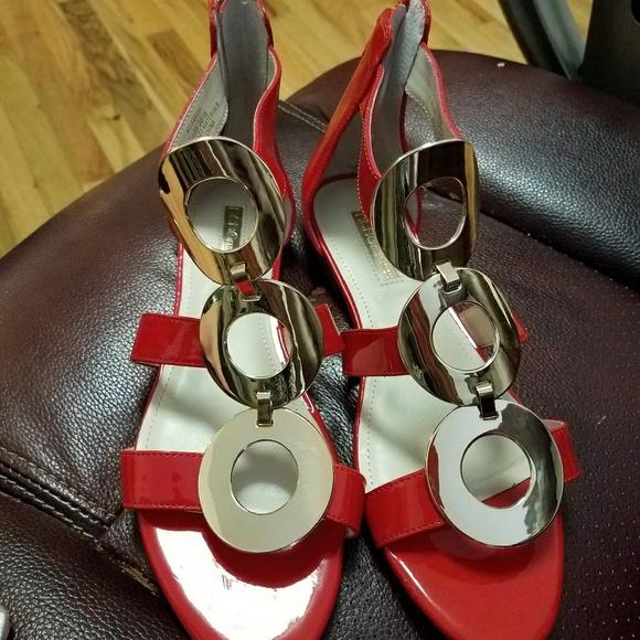 BCBGeneration Shoes - BCBG cute red sandals